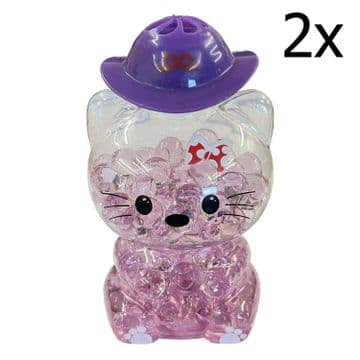 2 x PURPLE LAVENDER CAT BUBBLE AIR FRESHNER car home caravan bathroom motorhome